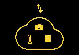 les données sont enregistrées dans le cloud